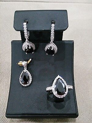 Ladie's Turkish Handmade Jewelry 925 Sterling Silver / Onyx Set Ring Size 7.5