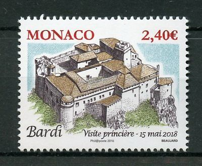 Monaco 2018 MNH Ancient Grimaldi Strongholds Bardi 1v Set Architecture Stamps