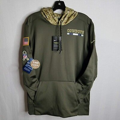purchase cheap aba17 85096 NEW DALLAS COWBOYS Nike Mens Salute to Service Pullover Hoodie Sweater  Medium CP