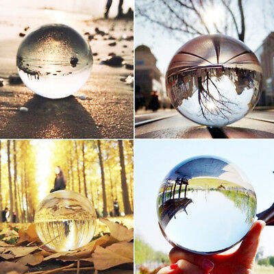 Clear Glass Crystal Ball Healing Sphere Photography Props Ball Gifts 20/50/80mm