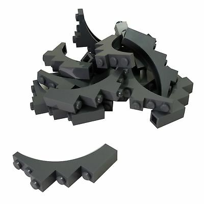 Continuous Bow 10188 6276 4757 6286 7783 LEGO Pair of BLACK BRICK ARCH 1x5x4