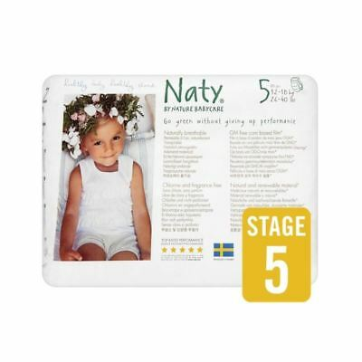 Naty Size 5 Nappy Pants 20 per pack - Pack of 4