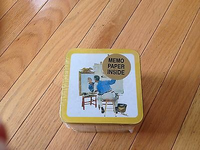 Norman Rockwell Collector's Tin - Memo Paper Inside - Brand New - 1994