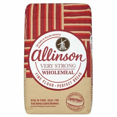 Allinson Very Strong Wholemeal Bread Flour (1.5Kg) - Pack of 6