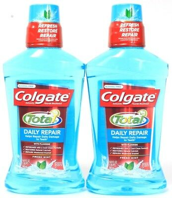 2 Colgate Total Daily Repair Damage To Teeth Fresh Mint With Fluoride 16.9 oz