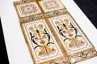 Original Victorian Fireplace Tile Set (0010) See description