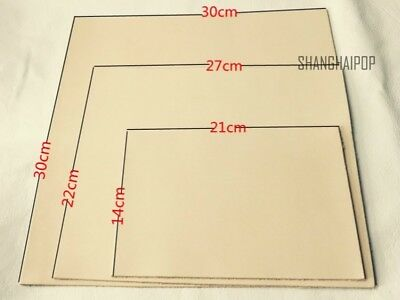 2mm Thick Natural Veg Tanned Cowhide Shoe Liner Craft Leather DIY Tops Tool New