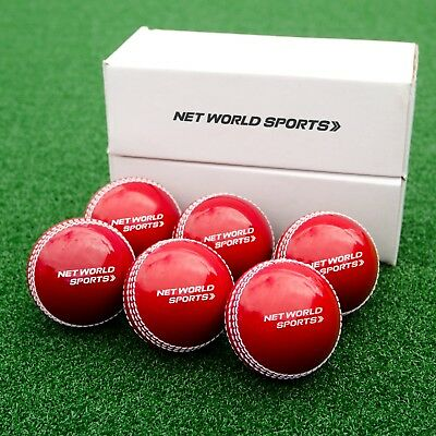 Cricket Incrediballs - Pink & Red Cricket Balls - Pack of 6 Match Ball Replica