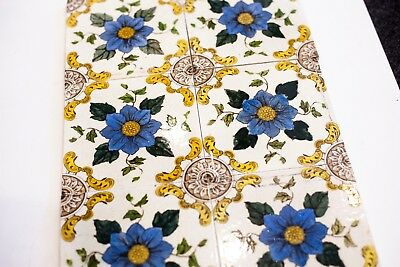 Original Victorian Fireplace Tile Set (0011) See description