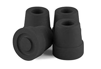 Premium Black 1/2 Inch Anti Slip Walking Quad Cane Rubber Tips Replacement