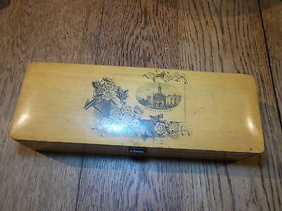Nice Antique Victorian  Mauchline  Box Winchester Cross