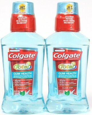 2 Colgate Total 45% Stronger Gum Health Antigingivities Clean Mint 8.4 oz