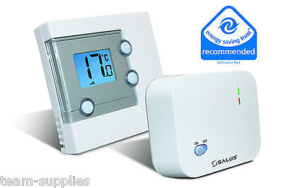 Salus Digital Lcd Electronic Wireless Room Thermostat Stat Rt300Rf