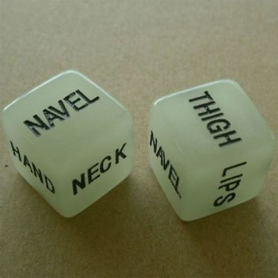 2 x Glow in the dark ADULT sex dice game Words set - UK