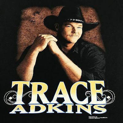 VINTAGE Trace Adkins Shirt Adult XL Black Short Sleeve Country Music 1997 VTG