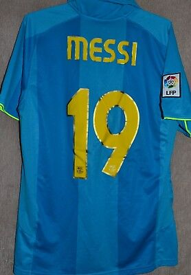 ea42f478a Barcelona FC 2007-2008 Away T-Shirt Camiseta Jersey Size M Nike Kit Messi