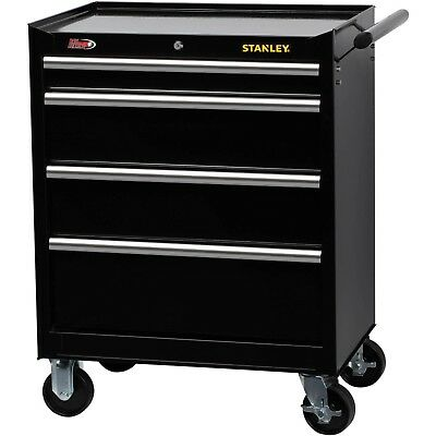 Stanley 4 Ball-Bearing Drawer Tool Organizer Cabinet W/Wheels Sturdy Side Handle