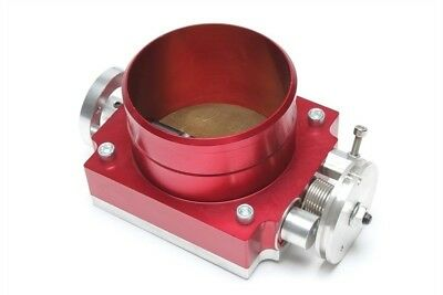 Performance Butterfly Valve Aluminium 3 15/16in, Red, Universal With