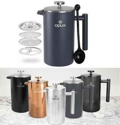 OPUX Coffee Insulated Fresh Press Coffee Maker Stainless Steel Double Wall 34OZ