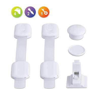 Mother & Kids Cabinet Locks & Straps Frank 10pcs Plastic Protection Cabinet Lock Child Safety Baby From Children Safe Locks For Refrigerators Baby Security Drawer Latches