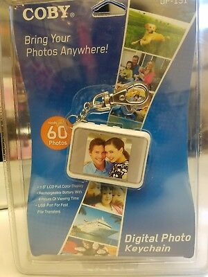 """Coby Digital Photo Keychain DP-151 White 1.5"""" LCD Full Color Display"""