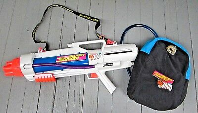 Larami Super Soaker Cps 3000 With Backpack 1997 Water Blaster Gun