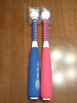 NEW PLAYDAY 21-INCH JUMBO SOFT BASEBALL BAT /& BALL PLAY SET RED OR BLUE AGES 5+