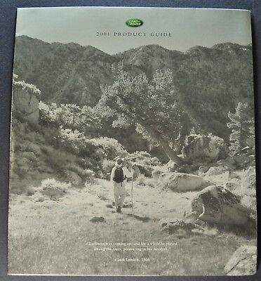 2001 Land Rover Brochure Range SE SHE Discovery Series II Excellent Original 01