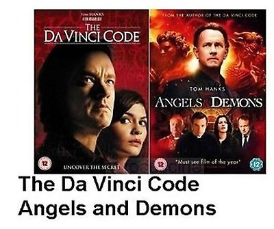 Da Vinci Code Angels And Demons Double Pack Part 1 2 New And Sealed Region 2 Dvd