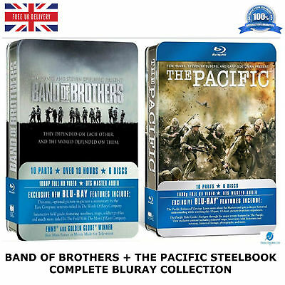 Band Of Brothers + The Pacific Boxset Steelbook Collection New Sealed Uk Bluray