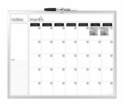 The Board Dudes The Board Dudes Aluminum Framed Magnetic Dry Erase Monthly Calen