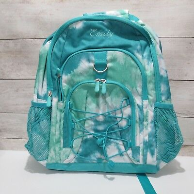 ae69f80760 Pottery Barn Teen GEAR-UP Large Backpack girls Pool Green Teal Tie-Dye EMILY