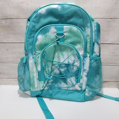 2ed87a4428 Pottery Barn Teen GEAR-UP Large Backpack girls Pool Green Teal Tie-Dye