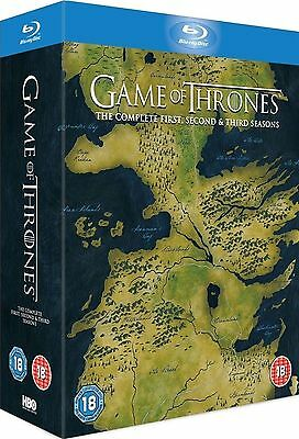 GAME OF THRONES - Complete Series 1-3 Box Set Collection Season 1 2 3 New BluRay