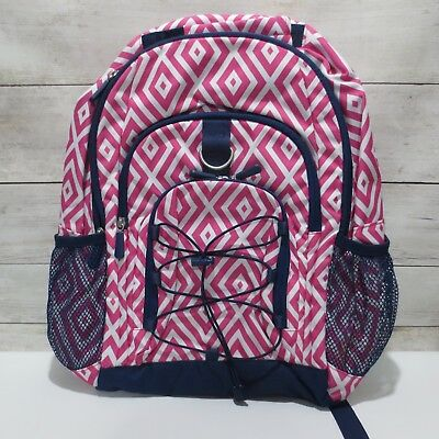 62f3029adc Pottery Barn Teen girls GEAR-UP Large Backpack girls Navy Blue   Pink geo