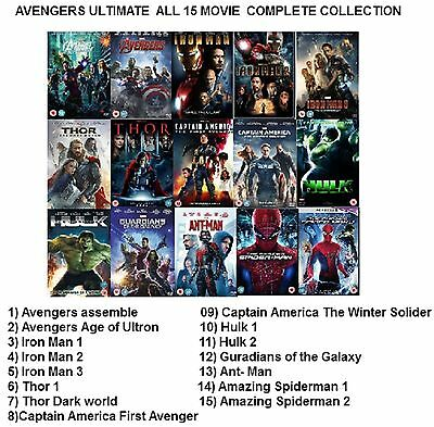 AVENGERS ULTIMATE - ALL 15 Movie Complete Collection New Sealed UK Region 2 DVD