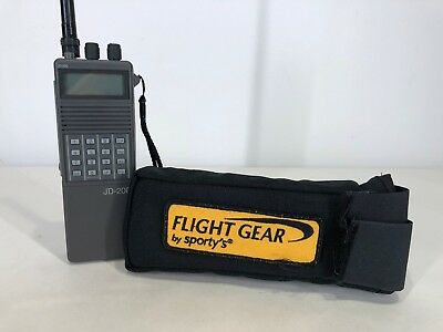SPORTY'S JD-200 Transceiver Handheld Aviation Aircraft Radio - TESTED ON only