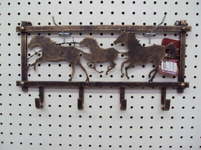 Wall Hanging Horse Decoration 3 Horses Running With Hooks