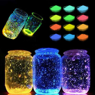 Colorful Fluorescent Light Particles Glow Sand Pigment Gloss Glow In The Dark