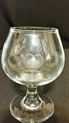 Di Amore Liqueur Etched Stemmed Cordial Glassware One glass