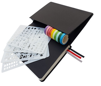 Best Dot Grid Bullet Journal Kit With 10 Rolls Of Washi Tape And 4 Stencils