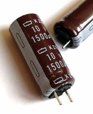 5x pieces, 1500uF 10v 105°C, Chemicon(JAPAN) Electrolytic Capacitor -ref:194
