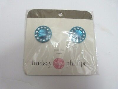 """New in pack Lindsay Phillips /""""Cori/"""" shoe snaps bling silver//pink stone"""