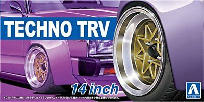 AOSHIMA 1/24 The Tuned Parts Series No.53 techno TRV 14 inch parts for plastic m