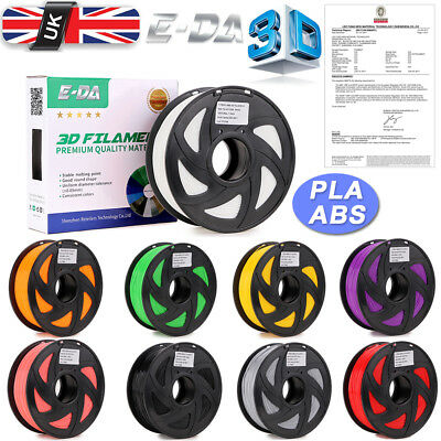 E-DA Office 3D Printer Filament PLA ABS Dia 1.75mm Total Weight 1.3kg with Spool