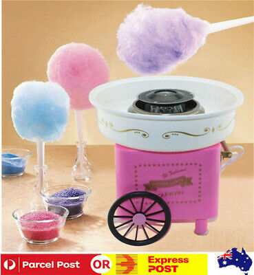 Electric Cotton Candy Machine Fairy Floss Maker Pink Sweet Home Party Commercial