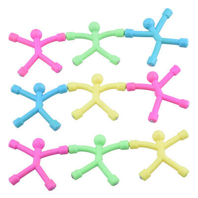 24pcs Soft Plastic Mini Magnet Man Smile Face Paper Holding Cute Gift Toy