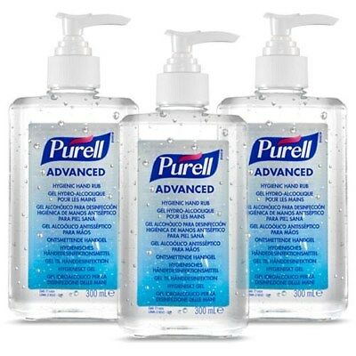 Purell {GoJO} Alcohol Based Hand Rub Gel Sanitiser Pump Bottle - 300ml