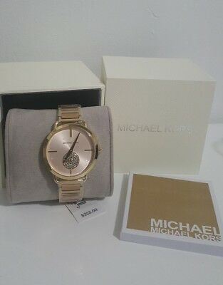 db7d62841cd4 Michael Kors Women s Portia Stainless 2 Tone Yellow Rose Gold Watch MK3706   225