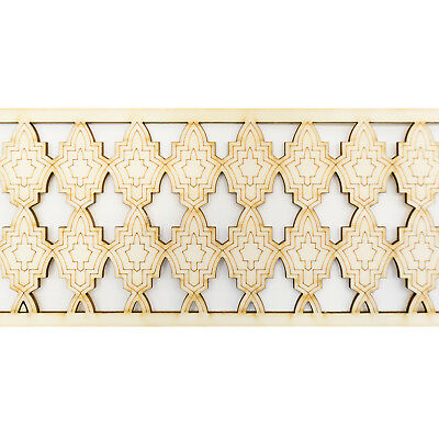 Moroccan Carved Wood. SIZE: 74.6 by 9.9 CM, Arabian Wooden Panel, Beading, Trim
